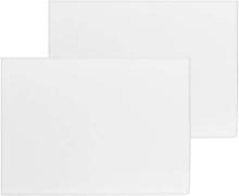 Saxnäs Home, Bekvemme Lagen på 60 x 120 + 15 cm i pakke med 2 stk. Hvid