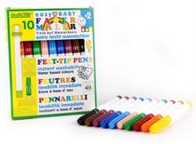 Tuschpennor för de minsta, 5 mm, 10 färger