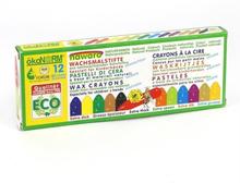 Ekologiska Vaxkritor för de minsta, 12 st färger