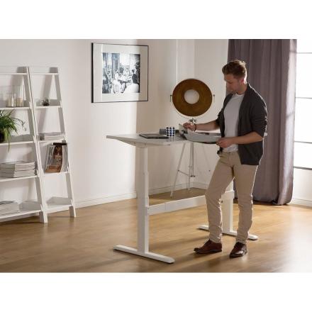 Beliani Säädettävä valkoinen työpöytä 180x80 cm UPLIFT