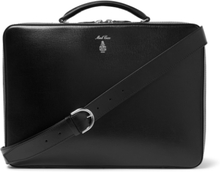 Baker Brief Full-grain Leather Briefcase - Black