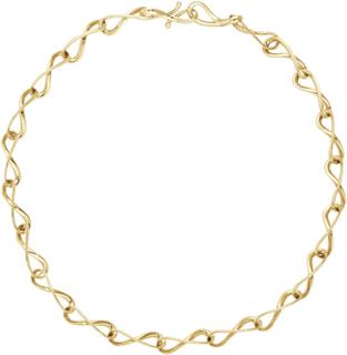 Georg Jensen Infinity Halsband 18 K Gult Guld Med Diamanter