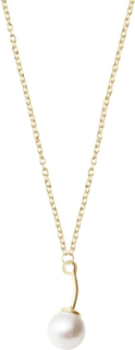 Le pearl single necklace gold