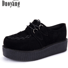 Creepers casual shoes woman plus size sneakers women shoes ladies platform shoes 2020 Lace-up Women Flats Female shoes loafers