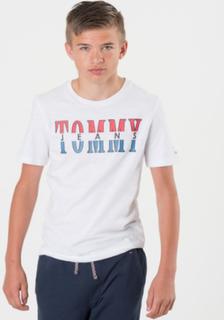 Tommy Hilfiger ESSENTIAL TOMMY JEANS TEE Vit T-shirt/Linnen till Tjej