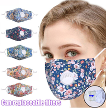 Face Mask Women Print Adjustable Reusable Breathable Valve Safe Protection Mask Face Cover Mascarilla Cycling Earloop Respirator