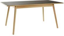 Poul M. Volther 6 pers. spisebord - C35B - Bøg/sort linoleum