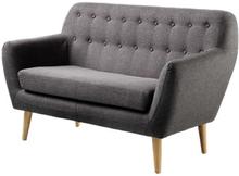 Living&more 2 pers. sofa - Vigga - Grå