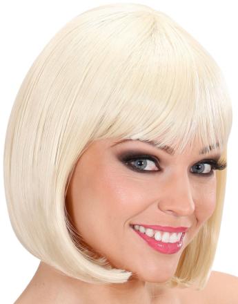 Blond Parykk med Buet Bob Frisyre - Kan Styles!