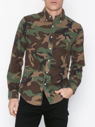 Polo Ralph Lauren Long Sleeve Sport Shirt Kauluspaidat Camo