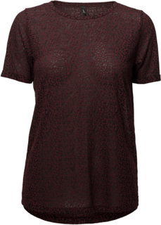 Sc-Magga T-shirt Top Rød Soyaconcept