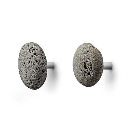 Normann Copenhagen - Stone Knagger 2 stk 12,5 cm, Grå