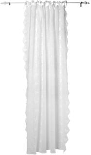 Lene Bjerre - Petrea Crushed Embroidery, Gardin, Hvit, 180x220
