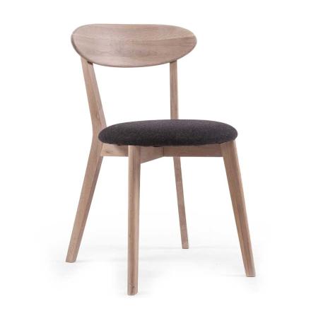 Department - Wood Fold Spisebordstol, Hvitpigmentert Eik