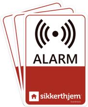 SikkertHjem præventive alarmmærkater