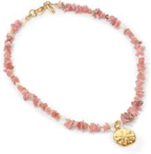 Kette aus Rhodonit-Zuchtperlen Juwelenkind rosé