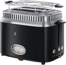 Russell Hobbs toaster - Retro 2 slice toaster - Sort