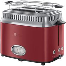 Russell Hobbs toaster - Retro 2 slice toaster - Rød