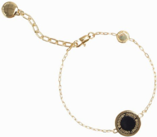 Marc Jacobs Enamel Logo Disc Bracelet Armband Oro