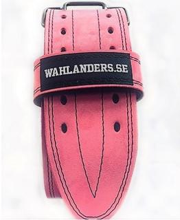 Wahlanders Bälte Mjuk rosa med svart söm - Small