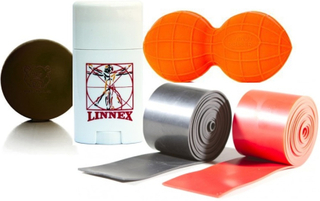Mobility Paket -Orange Peanutball + Svart Flossband