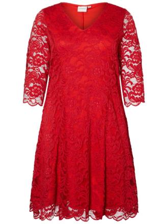JUNAROSE Lace Dress Women Red