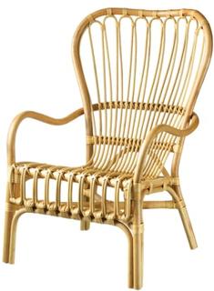 Living&more lænestol med høj ryg - Manado - Natur