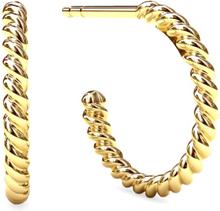 Spinning Jewelry ørestikker - Twisted hoopla - Forgyldt sterlingsølv