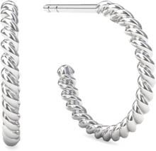 Spinning Jewelry ørestikker - Twisted hoopla - Rhodineret sterlingsølv