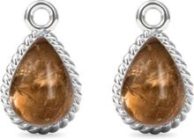 Spinning Jewelry vedhæng - Twisted manna - Rhodineret sterlingsølv