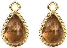 Spinning Jewelry vedhæng - Twisted manna - Forgyldt sterlingsølv