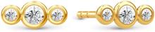 Spinning Jewelry ørestikker - Trio - Forgyldt sterlingsølv