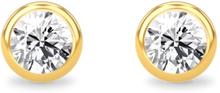 Spinning Jewelry ørestikker - Duchess - Forgyldt sterlingsølv