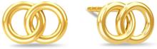Spinning Jewelry ørestikker - Compassion - Forgyldt sterlingsølv