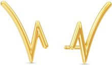 Spinning Jewelry ørestikker - Rhythm - Forgyldt sterlingsølv