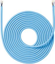 Nielsen stoffledning 2x0,75 mm², 4 meter, turkis