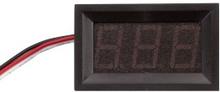 Luxorparts Digital voltmeter 0-99 V DC med ram Röd LED
