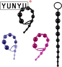 1 pcs Anal Toy Color Jelly Anal Beads Sex Orgasm Vagina Plug Play Pull Ring Ball Anal Stimulator Butt Beads for Women