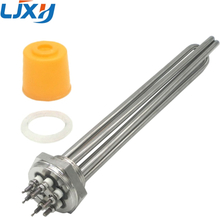 """LJXH DN32 Electric Heating Element Immersion 220V/380V Heater 304 Stainless Steel 1.2"""" Boiler Water Heater"""