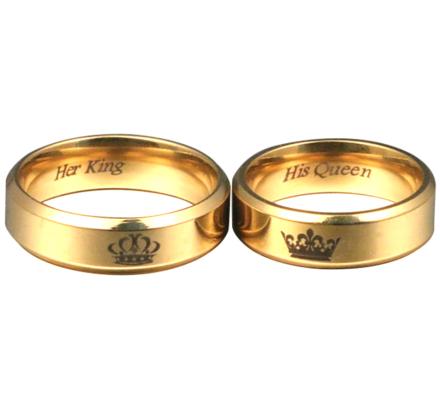 """Parringar """"Crowns"""" i 18K Guldplätering"""