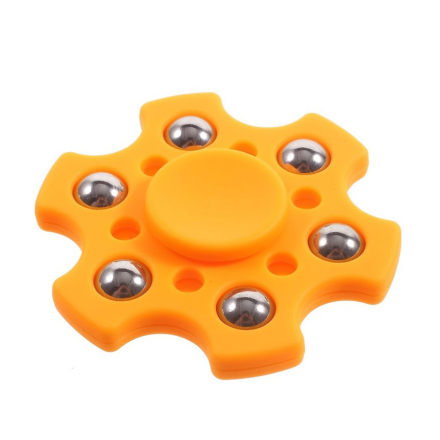 Small metal balls hexagon Fidget Spinner- Orange