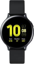 Galaxy Watch Active 2 44mm Stainless Steel Sølv Gummirem Sort