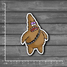 Patrick Or Chewbacca? Cute Cartoon Laptop Notebook Stickers Home Decor Wall Car Stlying Skateboard Sticker Kids Toys[Single]