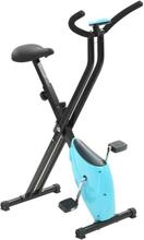 vidaXL motionscykel båndmodstand blå X-Bike