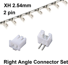 50 Sets JST XH 2.54 2-Pin Right Angle Connector plug Male , Female , Crimps