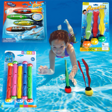 Retail Package 2018 New Summer Torpedo Rocket Throwing Toy Funny Swimming Pool Diving Game Toys Children Underwater Dive Toy #CS