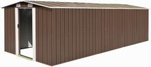vidaXL haveskur 257 x 597 x 178 cm metal brun