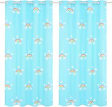 vidaXL Mörkläggningsgardiner för barn 2 st 140x240 cm regnbåge blå