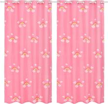 vidaXL Mörkläggningsgardiner för barn 2 st 140x240 cm regnbåge rosa