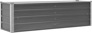 vidaXL haveplantekasse galvaniseret stål 160 x 40 x 45 cm grå